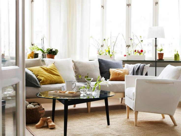 Bright living room - Norrgavel furniture