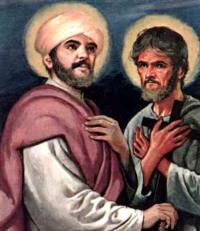 Sts. Philip and James, Apostles: Today's Mass tells us that the example of the Apostles is the most certain and direct path to heaven. They suffered and were persecuted, but they placed their confidence in God and now they rejoice in heaven. We too must have confidence in God and not be troubled in our adversities. In our Father's house there are many mansions, and if we follow the way indicated by Him, Christ will come at the end of our life and take us to Himself. #Catholic #Pray