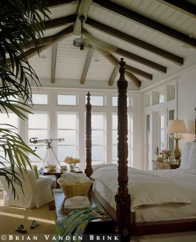British colonial style bedroom