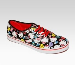An image of VANS x Hello Kitty Authentic Lo Pro: Collage $55 for Womens and $40 for children