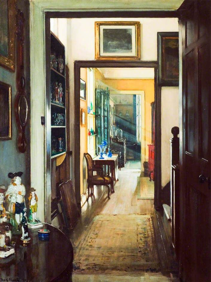 lilacsinthedooryard:   Frederick William Elwell (1870-1958) Bric-à-brac' (1931)