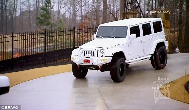 'It's so pretty!' The former Real Housewife Of Atlanta star caved into her daughter's wishes and gave her a pristene white Jeep Rubicon