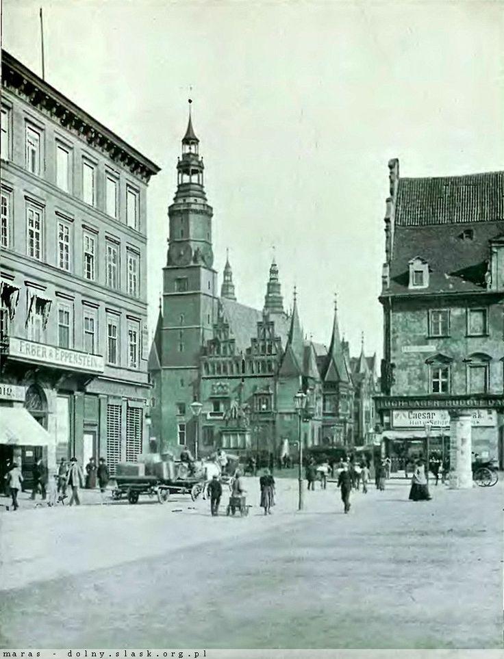 Lata 1890-1900 , Widok Rynku z pl. Solnego.