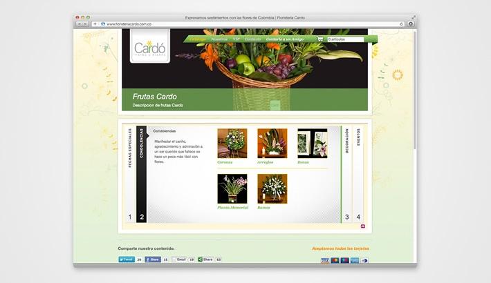 Cardo Flower Shop Website