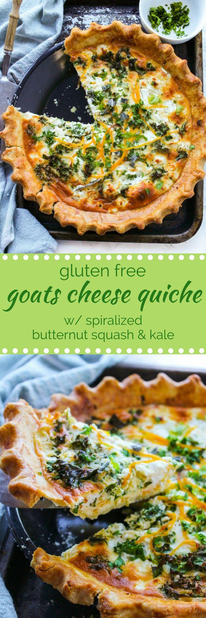 Gluten Free Butternut Squash Kale & Goats Cheese Quiche