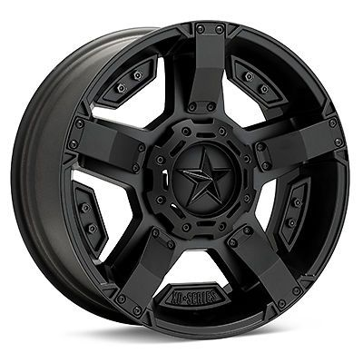 17 inch Jeep Wrangler JK 5x5 Black 17x8 Rockstar II RS2 Rims Wheels 2007 2013 | eBay