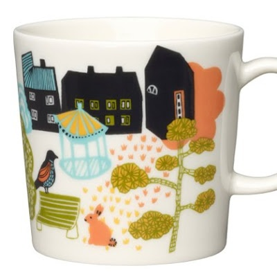 helsinki is the world design capital 2012 and it is also the headquarters of arabia finland who founded thier factory in 1873. to celebrate they have produced a series of new mugs called 'hometown'. finnish designer miira zukale has drawn inspiration from the city of helsinki, capturing its atmosphere, architecture, nature and features to produce four different mugs park, sea, block, and downtown.