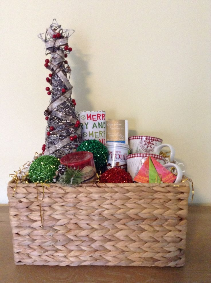 Unique and Custom Christmas Gift Baskets created and sold by Ambiance Innovative Event Planning    www.planwithambiance.com
