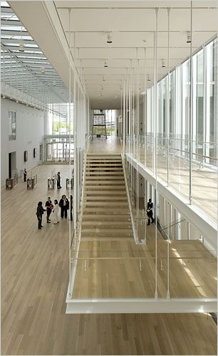 Modern wing, Art Institute chicago, renzo piano.  It gave the impression of floating stairs, & made you look up.  so serine.