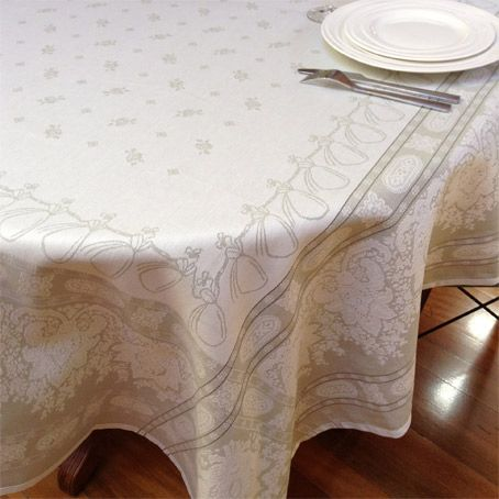 31 Best French Jacquard Woven Tablecloths Images On Pinterest Cool Dining Room Tablecloths Inspiration