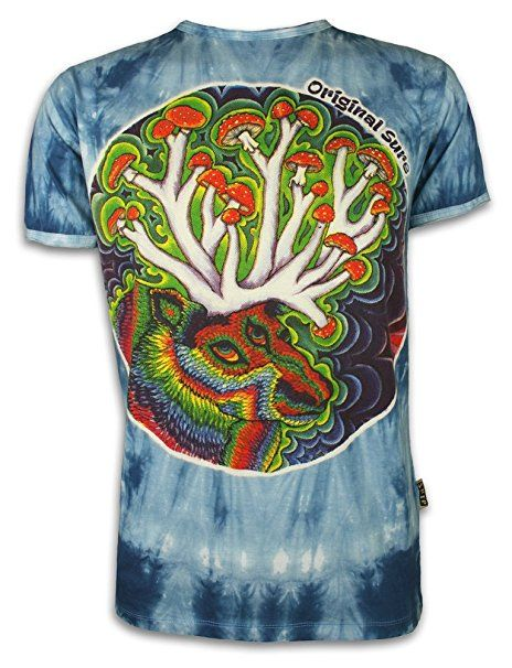 SURE Herren T-Shirt Waldgott Größe M L XL Magic Mushrooms Pilze Festival  Goa Psy-