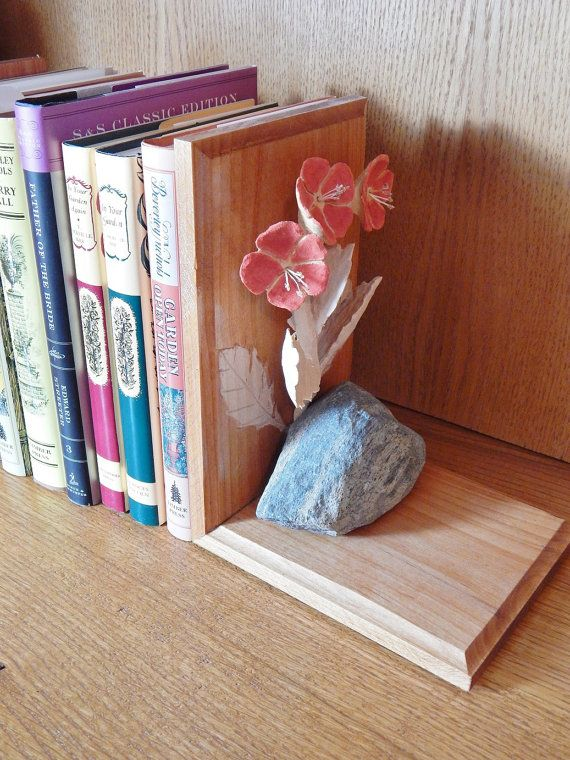 capricious steampunk bookends. Wood Carving Bookend with Crimson Flowers by FoliageWoodCarving 279 best Home Decor images on Pinterest  Art print Fingerprints
