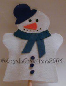 felt snowman hand puppet