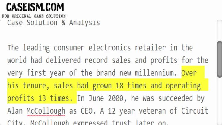 The Rise of Circuit City Stores Inc.  Case Solution & Analysis Caseism.com https://caseism.com  This Case Is About The Rise of Circuit City Stores Inc. Case Solution and Analysis  Get Your The Rise of Circuit City Stores Inc. Case Solution at Caseism.com  http://ift.tt/2FusSte https://youtu.be/k1c5R5YVbYo