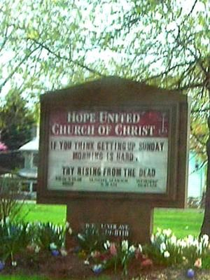 funny church quotes and sayings | Church Sign Quote Focuses On Easter
