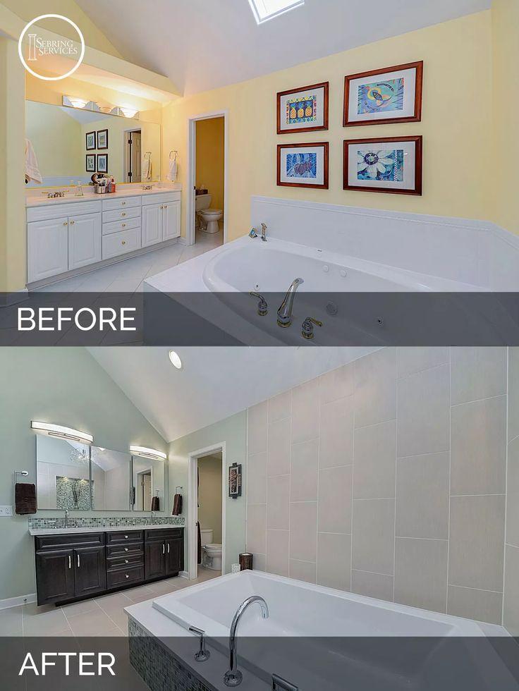 Steve U0026 Nicolleu0027s Master Bath Before U0026 After Pictures. Home Remodeling  ContractorsHall BathroomBathroom ...