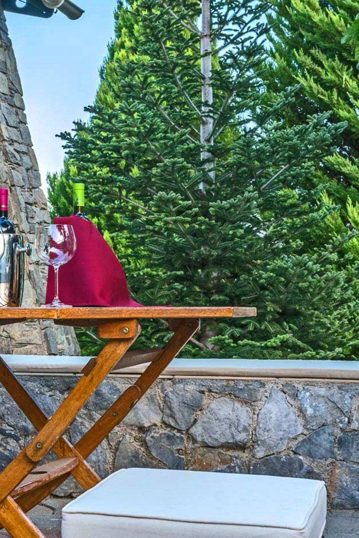 The private balcony of Kato Asites Villa in Heraklion #crete #travel #TheHotelgr