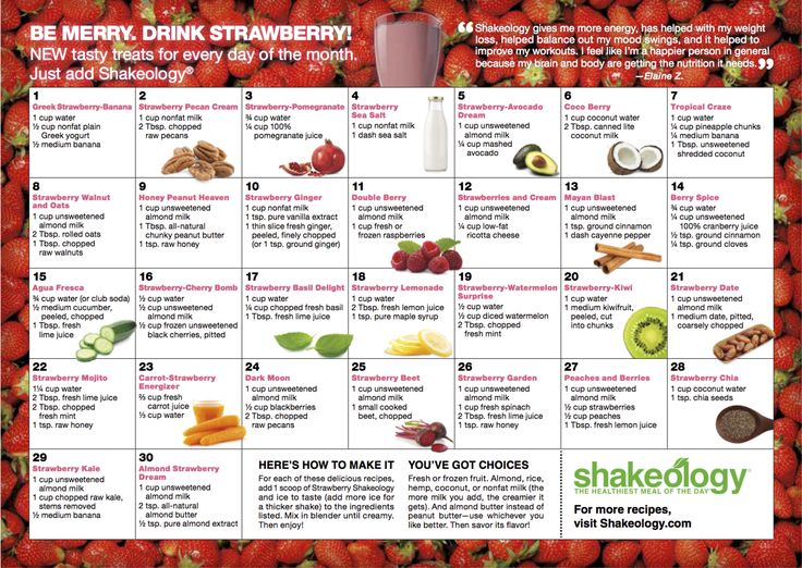 Strawberry Shakeology Recipes  - Complete Meal Shakes --> http://cocolaid.com