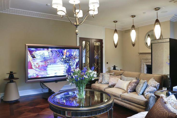 Красивые интерьеры квартир — дизайн гостиной