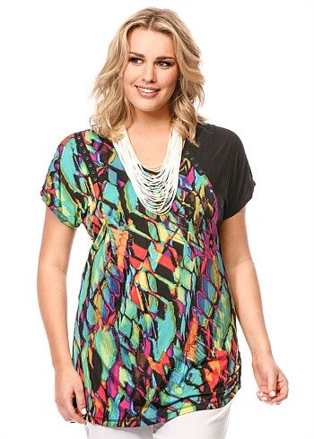 Plus Size women's Clothing, Large Size Fashion Clothes for WOMEN in Australia - HONEYCOMB TUNIC - TS14