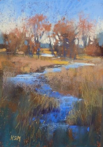 One Option for Toning Sanded Pastel Paper, painting by artist Karen Margulis