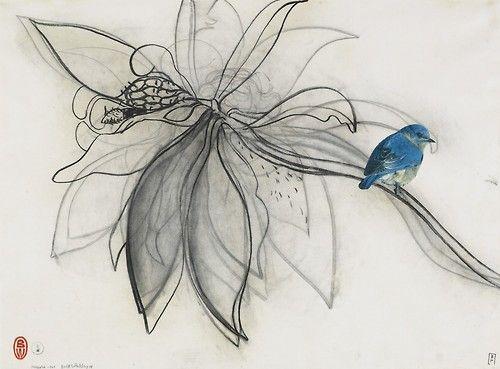 brett whiteley  Magnolia and Bird, 1978
