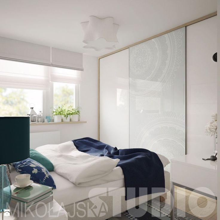 sypialnia w delikatnych kolorach - zdjęcie od MIKOŁAJSKAstudio - Sypialnia…