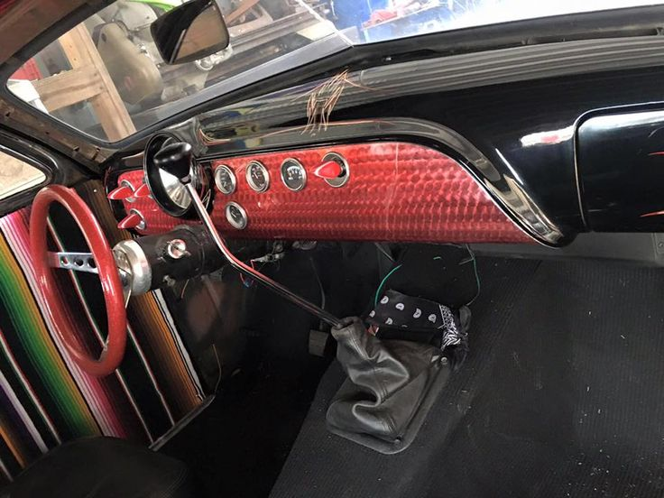 Ford Shoebox Car With Kustom Interior Mexican Blanket