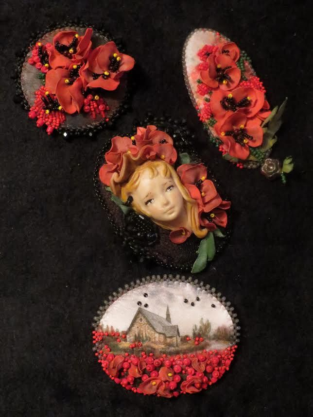 броши Татьяны Акуленко (мои кукольные личики)