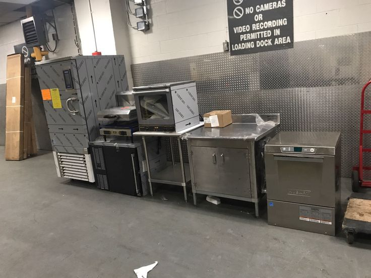 Getting ready to install a Hobart dishwasher, commercial convection oven, and more at the Mandarin Hotel in NYC.  #CulinaryDepot #Commercial #MandarinHotel #Hobart #Dishwasher #ConvectionOven #Countertop #Undercounter #Restaurant #Kitchen