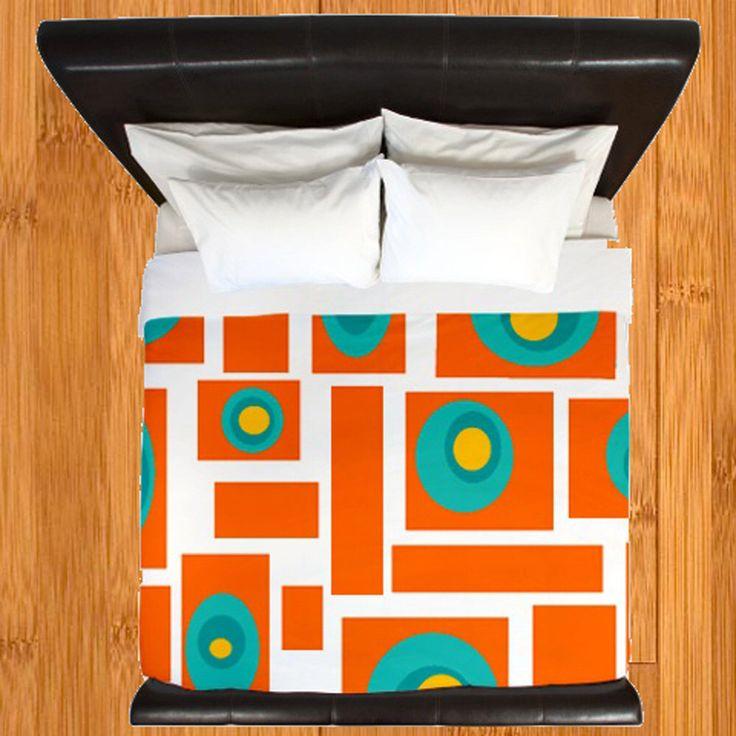 Mid Century Modern Orange Duvet Cover Duvet Cover, Mid Century Bedding by crashpaddesigns on Etsy https://www.etsy.com/listing/214080902/mid-century-modern-orange-duvet-cover