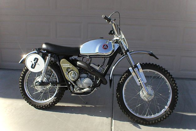 Hodaka Combat Wombat, had a huge sprocket on the back, think you could climb a tree if you could get traction.