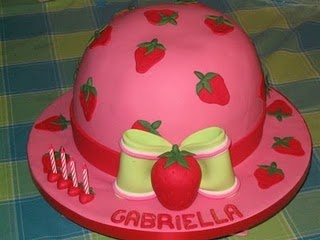 Perfect for a baby girl strawberry shortcake party :)