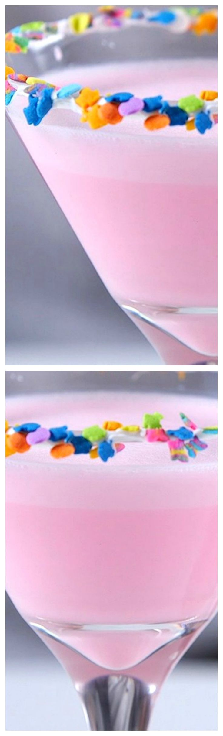 Birthday Cake Martini ~ So cute and fun… and it tastes just like a birthday cake, for adults!