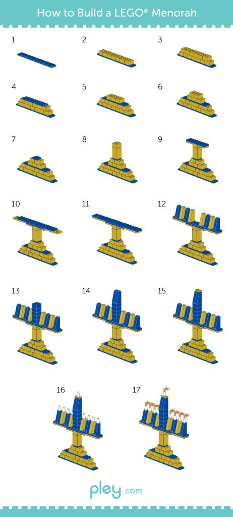 LEGO How-to Build: Menorah and Dreidel