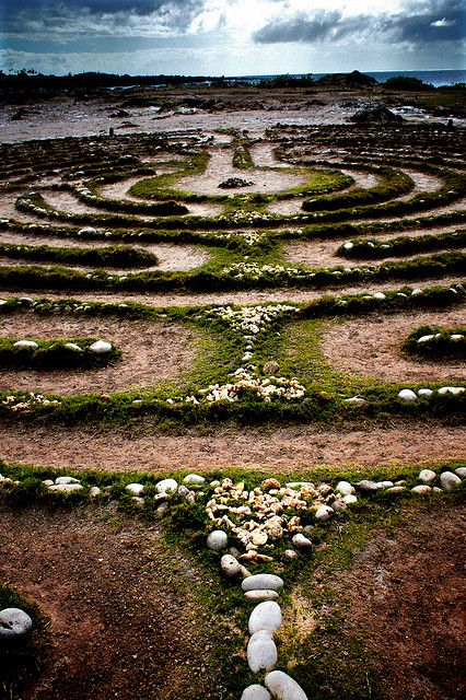 Labyrinth in natural glory