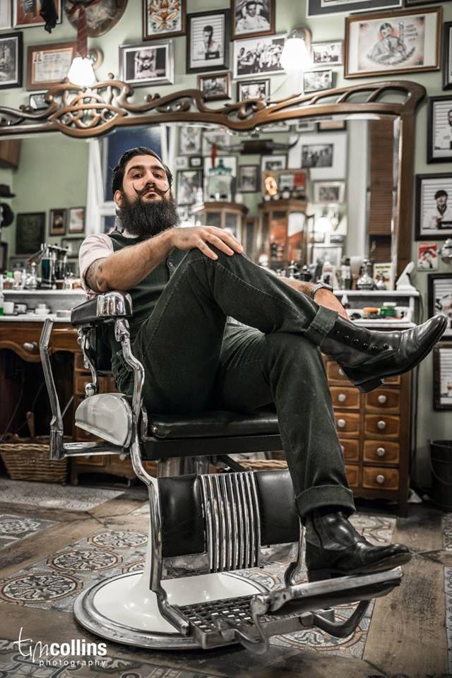 Fabian Garcia at Schorem Haarsnijder En Barbier. Tim Collins Photography. #beard