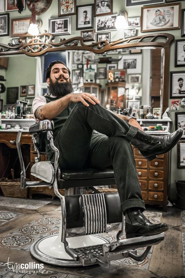 Fabian Garcia at Schorem Haarsnijder En Barbier. Tim Collins Photography. #beard
