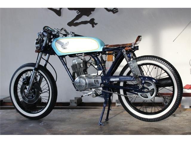 Honda Cb 50 Cafe Racer Custom 1 Honda Moped