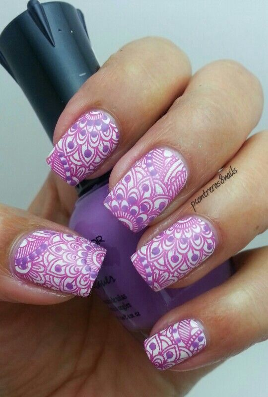 Cici&Sisi Plate 3 set 1 Nail stamping Another purple flower mani! http://pcontreras8nails.blogspot.com/2014/01/another-purple-flower-mani.html