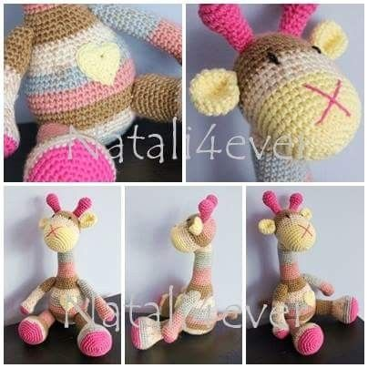 Crochet Giraffe..amigurumi