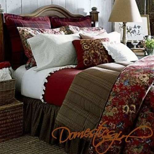 Chaps Summerton Full 4 Piece Comforter Set Red Floral