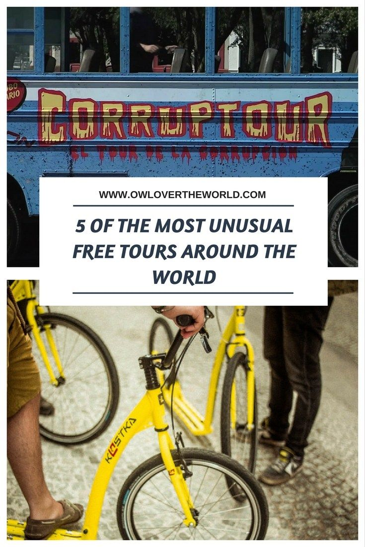 Discover 5 of the most unusual Free Tours from around the world, you will not expect that exist.  Unusual free tours / Alternative free tours / Unusual free tour from around the world / Free tours from around the world / Awesome free tours / Free tours Vienna / Free tours Bogota / Free touts Mexico / Free Tours Porto / Free tours Krakow / Rare free tours / Free unusual tours /