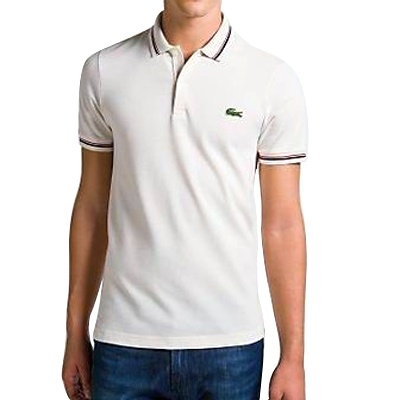 Lacoste Men's Classic Short Sleeve Solid Polo in White