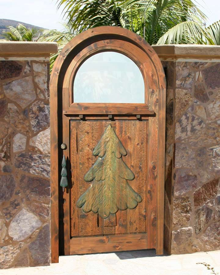 Christmas tree cottage gate thomas kincaide doors for Front door johnson valley