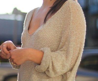 big, baggy sweaters