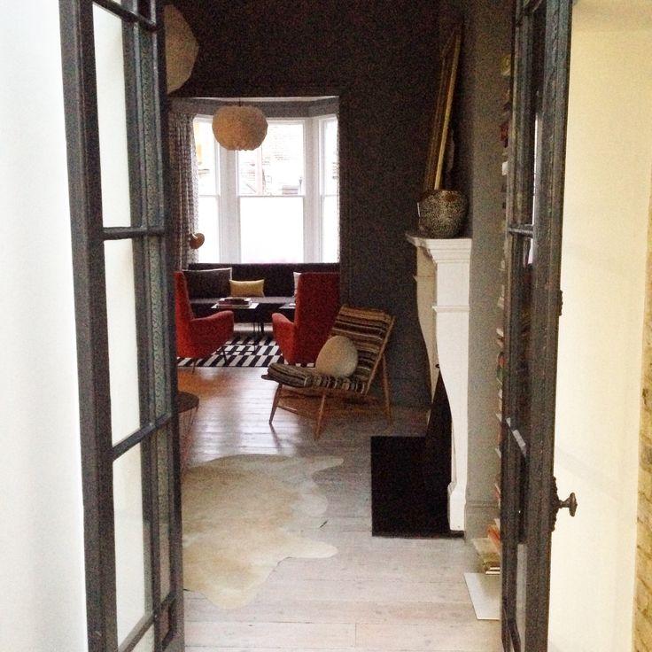 Double living room, midcentury modern interior design