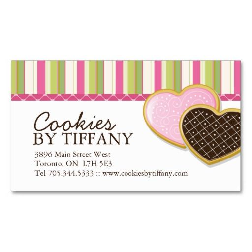 8 best business card ideas images on pinterest bakery business whimsical heart cookies business cards reheart Choice Image