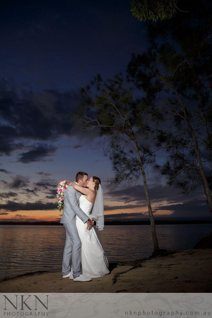 Double Island Point Wedding Photography - Sunset Wedding Photo - Melissa and Travis - NKN Photography