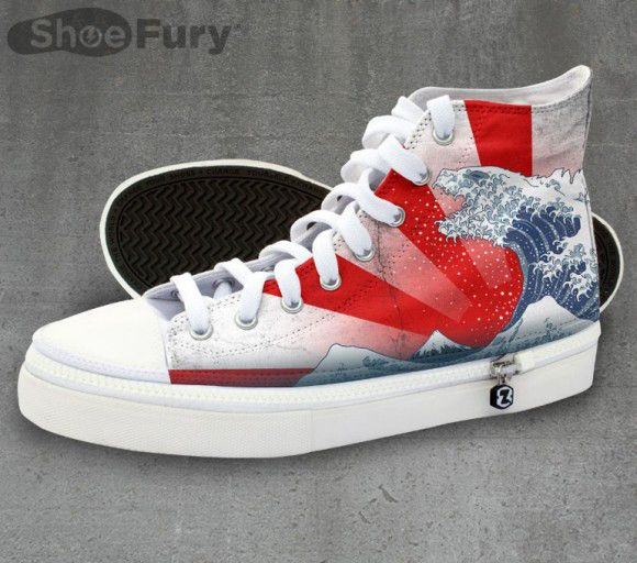 Combine your love of Godzilla, ukiyo-e and fashion with these fresh kicks from TeeFury | RocketNews24